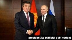 Сооронбай Жээнбеков и Владимир Путин. 20 сентября 2019 года.