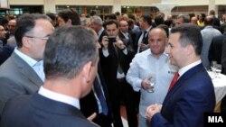 Премиерот Никола Груевски на средба со бизнис заедницата и стопанските комори.