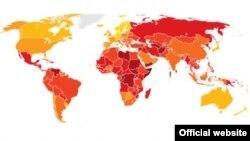 Индексза перцепција на корупцијата на Транспаренси Интернешнл