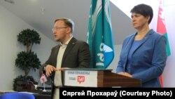 Андрэй Дзьмітрыеў і Тацяна Караткевіч, архіўнае фота