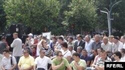 Protesti ratnih vojnih invalida u Sarajevu