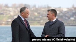 Igor Dodon și Vadim Krasnoselski, la Holercani