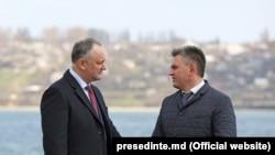 Vadim Krasnoselsk la Holercani împreună cu Igor Dodon