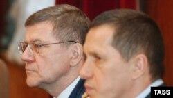 Юрий Чайка и Юрий Трутнев на совместной коллегии Генпрокуратуры и МПР