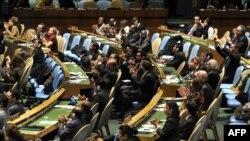 Участники Генеральной Ассамблеи ООН приветствуют принятие Договора о торговле оружием, 2 апреля 2013