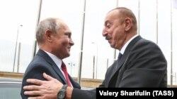 Əliyev və Putin, Bakı, 27 sentyabr 2018