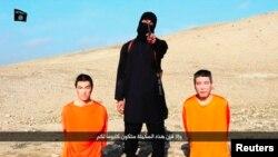 """""""Ислам мамлекети"""" туткунга алган жапондор. 20-январь, 2015-жыл."""