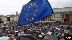 Демонстрация после референдума о выходе Великобритании из состава ЕС. Лондон, 28 июня 2016 года.