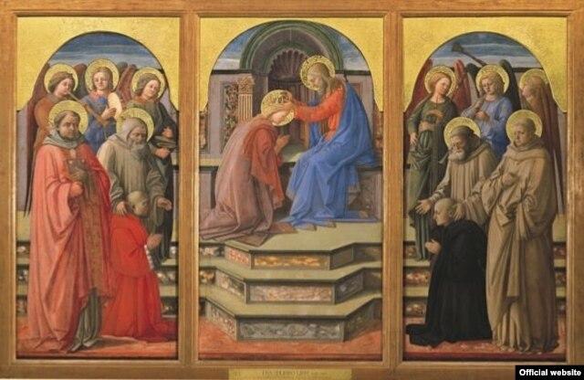 Filippo Lippi, Incoronazione della Vergine, Muzeul Vatican (expus temporar la Arezzo)