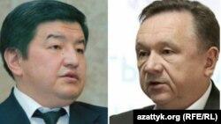 Акылбек Жапаров и Игорь Чудинов (справа).