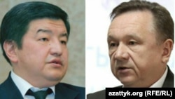Akylbek Japarov (left) and Igor Chudinov are now lawmakers in the ruling coalition.