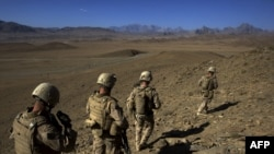U.S. Marines on patrol in Afghanistan
