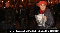 Празднование дня рождения Степана Бандеры во Львове, 1 января 2018 года