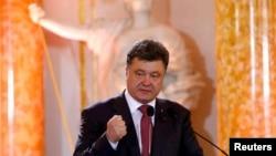 Новоизбранный президент Украины Пётр Порошенко