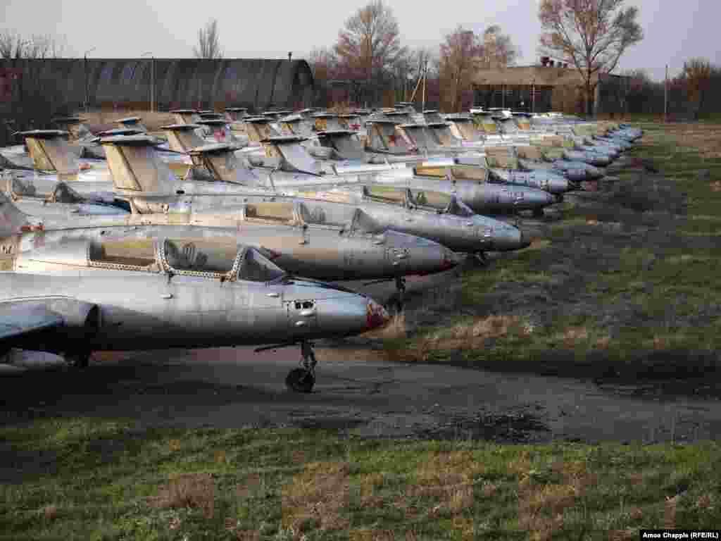 ...nearly 60 L-29 Dolphin jets...