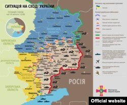 Карта боевых действий на 14 февраля