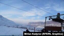 Нарын шаарындагы Ала-Мышык тоо лыжа базасы. 16-январь,2015-ж.