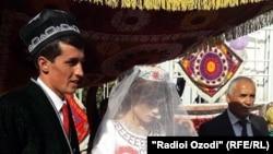 Свадьба Саидшо и Марджоны. Фото из архива