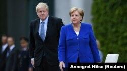 პრემიერ-მინისტრი ბორის ჯონსონი და კანცლერი ანგელა მერკელი