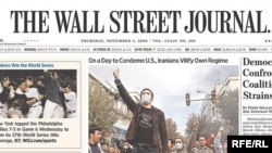 Czech Republic -- First page of The Wall Street Journal, (USA) newspaper, 05Nov2009