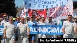 Protestna šetnja radnika Fiata, juli 2017.