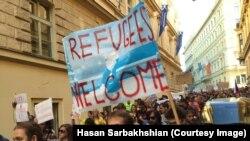 Poruke podrške izbeglicima sa mitinga u Pragu, ilustrativna fotografija