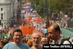 """""""Марш миллионов"""" 12 июня 2012 года с той самой любимой точки фотографов на Рождественском бульваре"""