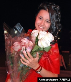 Актриса Бибигуль Суюншалина. Алматы, 17 сентября 2012 года.