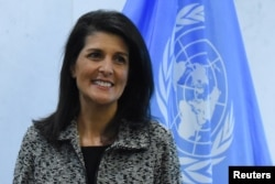 "U.S. Ambassador to the United Nations Nikki Haley has said that the United States ""continues to condemn and call for an immediate end to the Russian occupation of Crimea."""