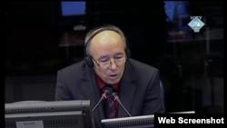 Idriz Merdžanić svjedoči na suđenju Radovanu Karadžiću, Hag, 16. studeni 2011.
