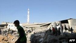 Zgrade uništene u vazdušnom napadu Izraela, 07. januar 2009.