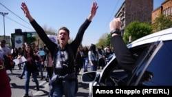 Сторонники оппозиции на улицах Еревана