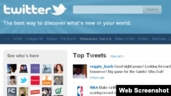 Generic - Twitter website, 21Nov2010