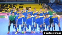 Игроки казахстанской сборной по футзалу.
