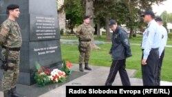 """Споменикот """"Ангел"""" во Битола во чест на загинатите бранители кај Вејце во 2001 година."""