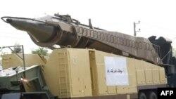 نمایی از موشک سطح به سطح قدر یک در مراسم رژه نیروهای مسلح جمهوری اسلامی ایران.(عکس: AFP)