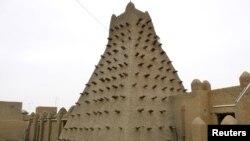 Традиционала градба заштитена од УНЕСКО во градот Тимбукту во Мали.