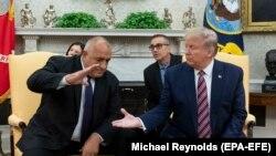 претседателот на САД Доналд Трамп и бугарскиот премиер Бојко Борисов во Вашингтон