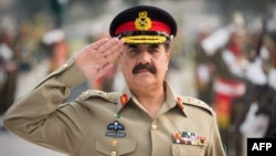 Pakistani army chief General Raheel Sharif .