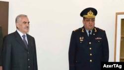 Naxçıvan Ali Məclisinin sədri Vasif Talıbov və Naxçıvanın daxili işlər naziri Əhməd Əhmədov. 2015