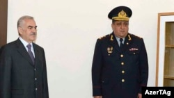 Vasif Talıbov və daxili işlər naziri Əhməd Əhmədov. 2015