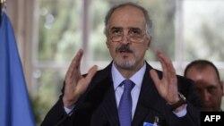 Шефот на сирискиот владин преговарачки тим Башар ал-Џафари