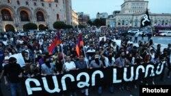 Акция протеста против повышения тарифа на электроэнергию, Ереван, 27 мая 2015 г․