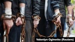 Одна из акции в поддержку Сенцова, Киев, 10 мая 2019