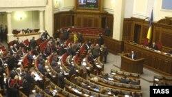 Украина парламенті отырысы. Киев, 20 наурыз 2014 жыл. (Көрнекі сурет)