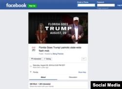Фиктивная страница на Facebook, посвященная выборам