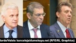 На комбінованому фото (зліва направо) Володимир Литвин, Сергій Пашинський і Сергій Ківалов, які не потрапляють до нової Верховної Ради