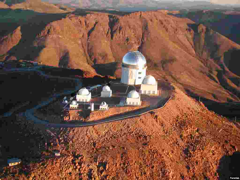 The Blanco telescope in Chile as seen from the air.