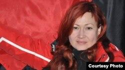 Волонтерка Анна Счасна-Гарус, вдова загиблого бійця, оборонця Донецького аеропорту з позивним «Сім'янин»