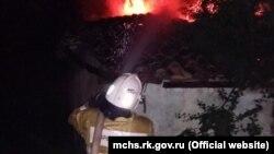 Ликвидация пожара в Судаке